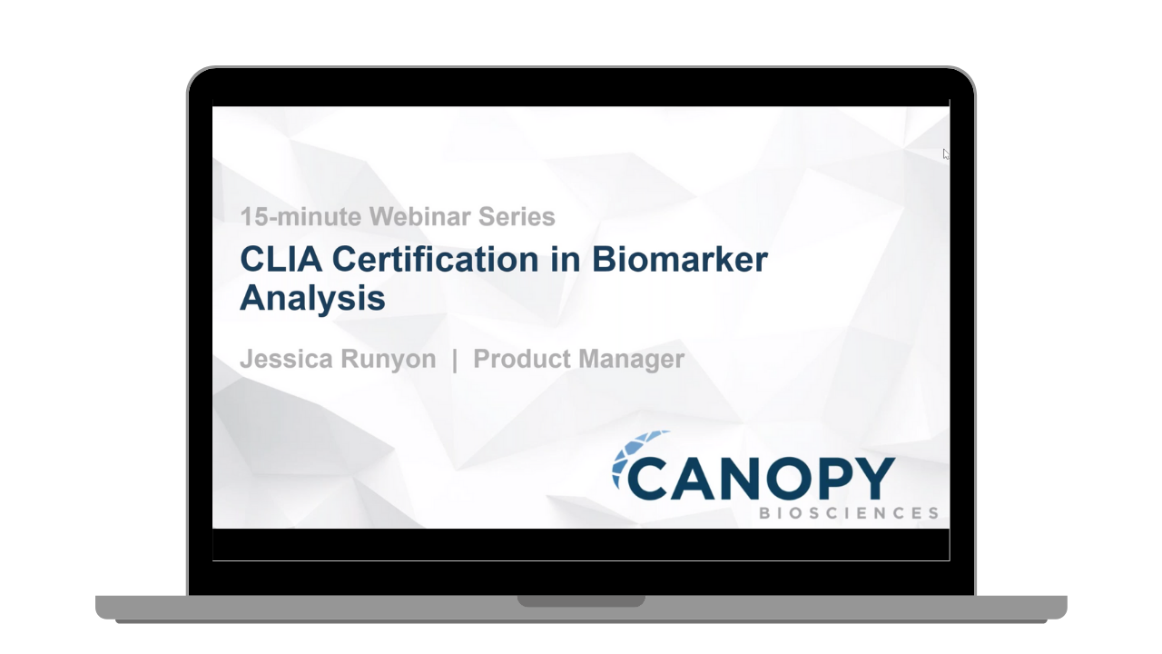 CLIA Certification in Biomarker Analysis Webinar
